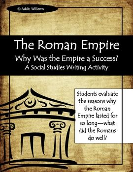 Rome Roman Empire Why Did The Last So Long Writing Activitie History Essay Ancient