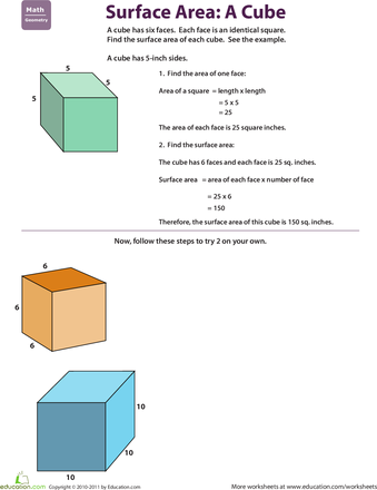 Find The Surface Area Cube Homeschool Pinterest Surface Area