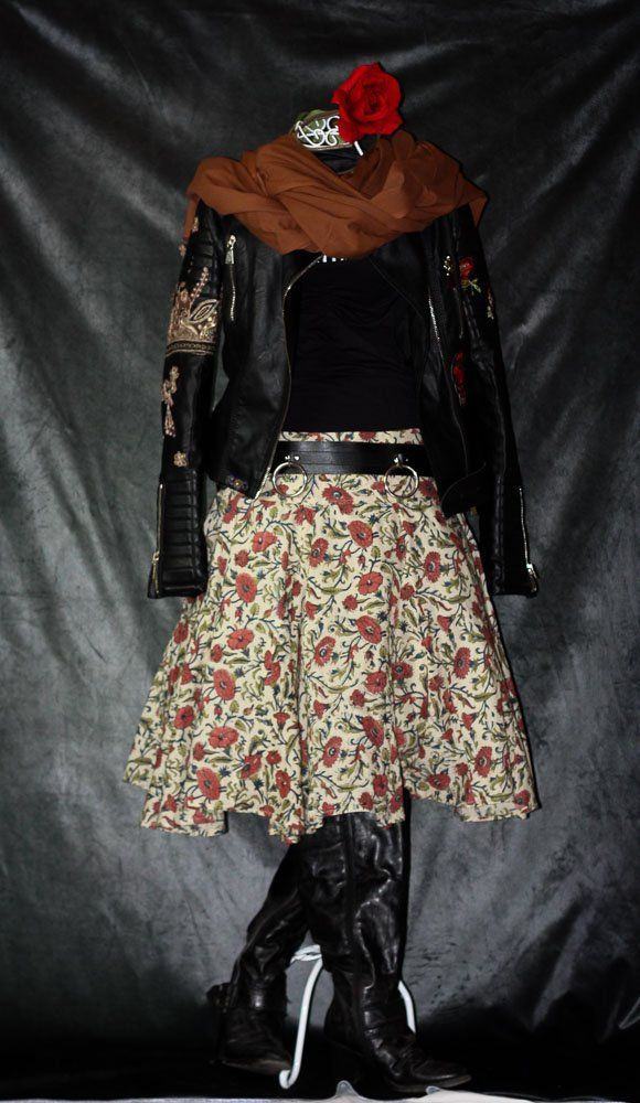 Weiter Midi Rock Handdruck, Kalima | Mode röcke ...