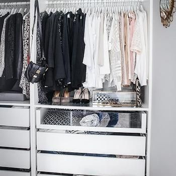 Ikea Pax Closet System With Clear Drawers Transitional Closet