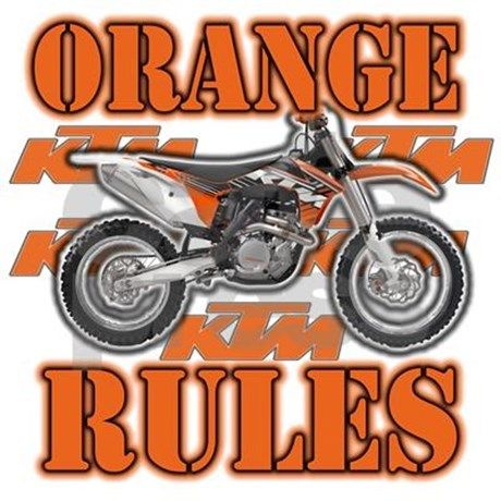 Orange Rules Pillow Case by motocrossrocks