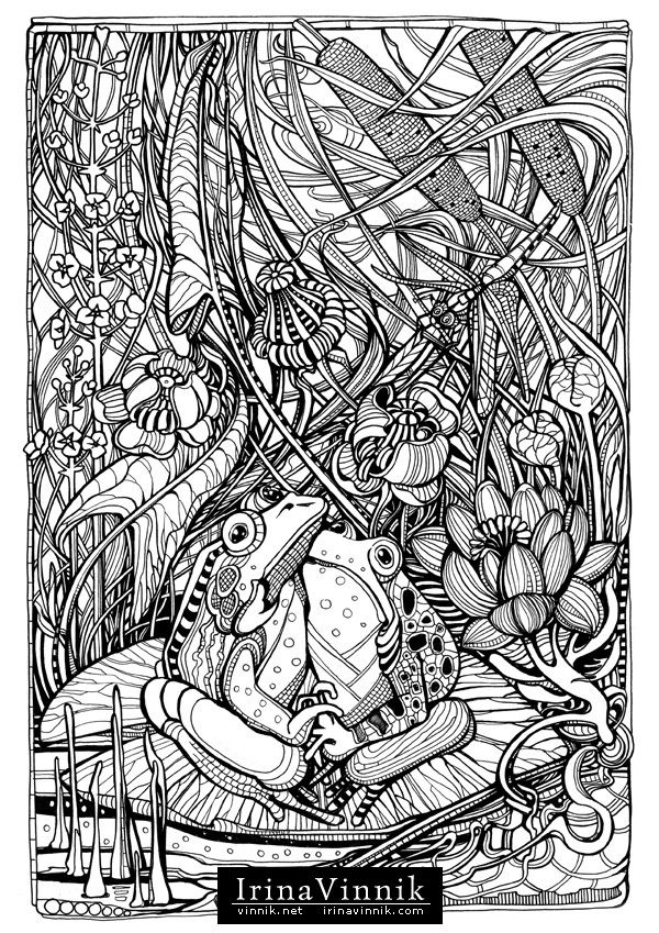 Manic Botanic Zifflins Tension Taming Coloring Book Invites You To Get In Touch With Nature All Of Its Glory Incredible Detail Vinnik Has