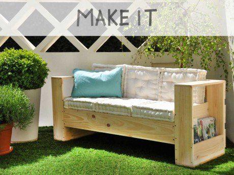 Diy Realiser Un Canape D Exterieur En Bois Canape D Exterieur Diy Meubles De Jardin Canape En Bois