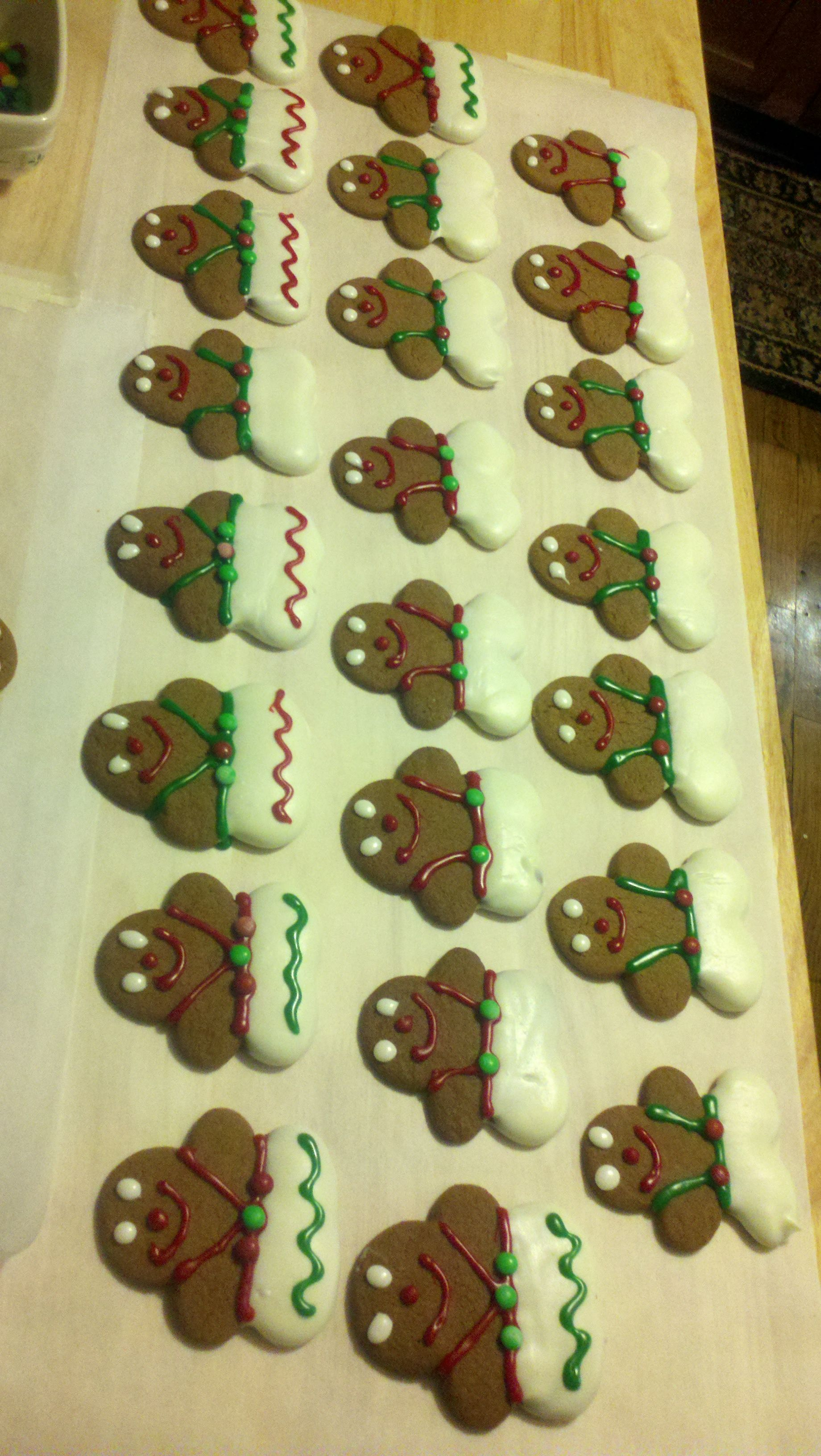Gingerbread Assembly line!