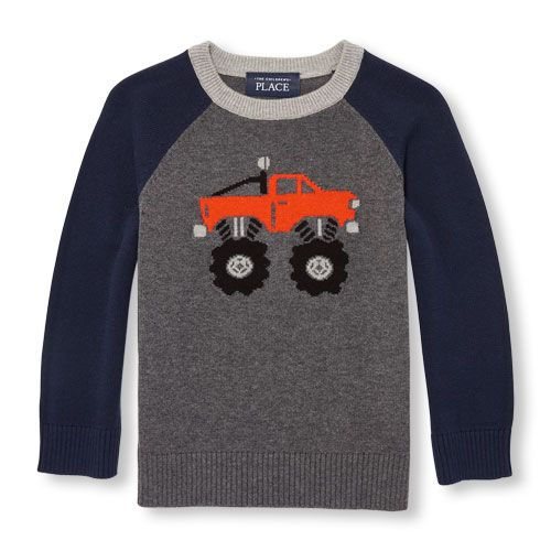 The Childrens Place Baby Boys Long Sleeve Raglan Sweater