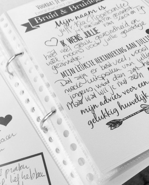Uniek gastenboek voor alle bruidjes-to-be
