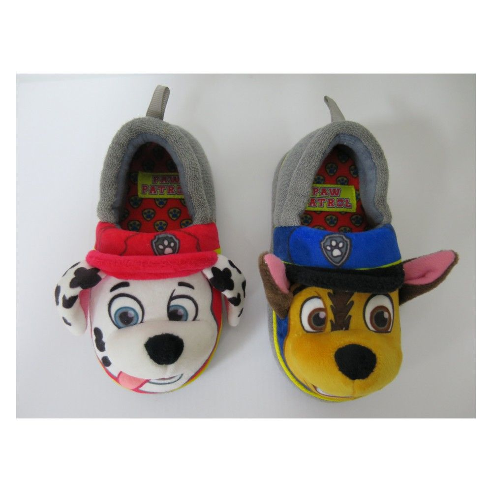 c3f6f78fa From playtime to preschool he'll love wearing these toddler boys' Paw Patrol  A-Line Slippers from Nickelodeon. These toddler boys' slippers are designed  to ...