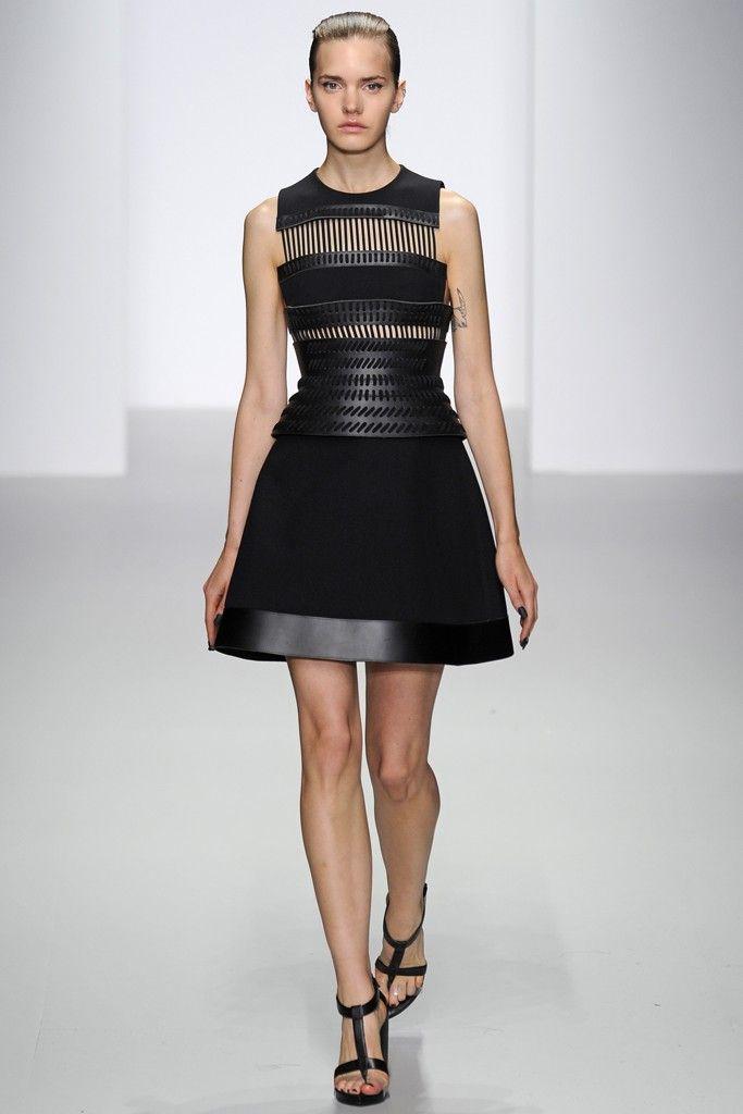 David Koma RTW Spring 2014 - Black Dress II, London