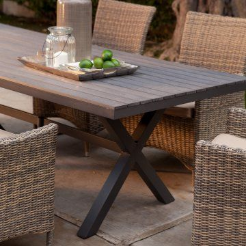 Belham Living Bella All Weather Resin Patio Dining Table Med