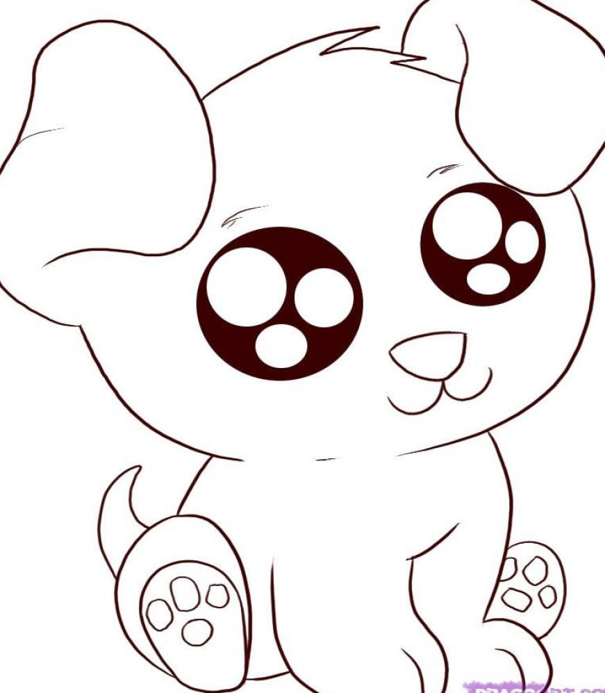 Cute Baby Animal Coloring Pages Dragoart   Forcoloringpages.com ...