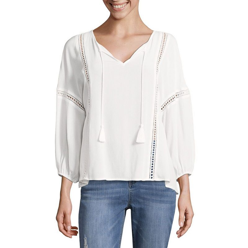 184ac84ebc737e A.N.A Peasant Blouse - Tall   Products in 2019   Sleeves, Peasant ...