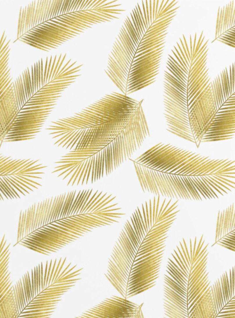 Tropical Gold Palm Leaves Pattern By Tanya Draws Pastel Background Wallpapers Gold Artwork Gold Leaf Painting