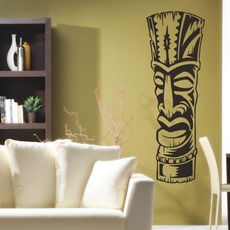 Add some Polynesian flavor to your room with this Tiki Totem Wall ...