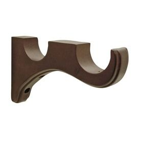 Allen Roth 2 Pack Mahogany Wood Curtain Rod Brackets Cortinas De