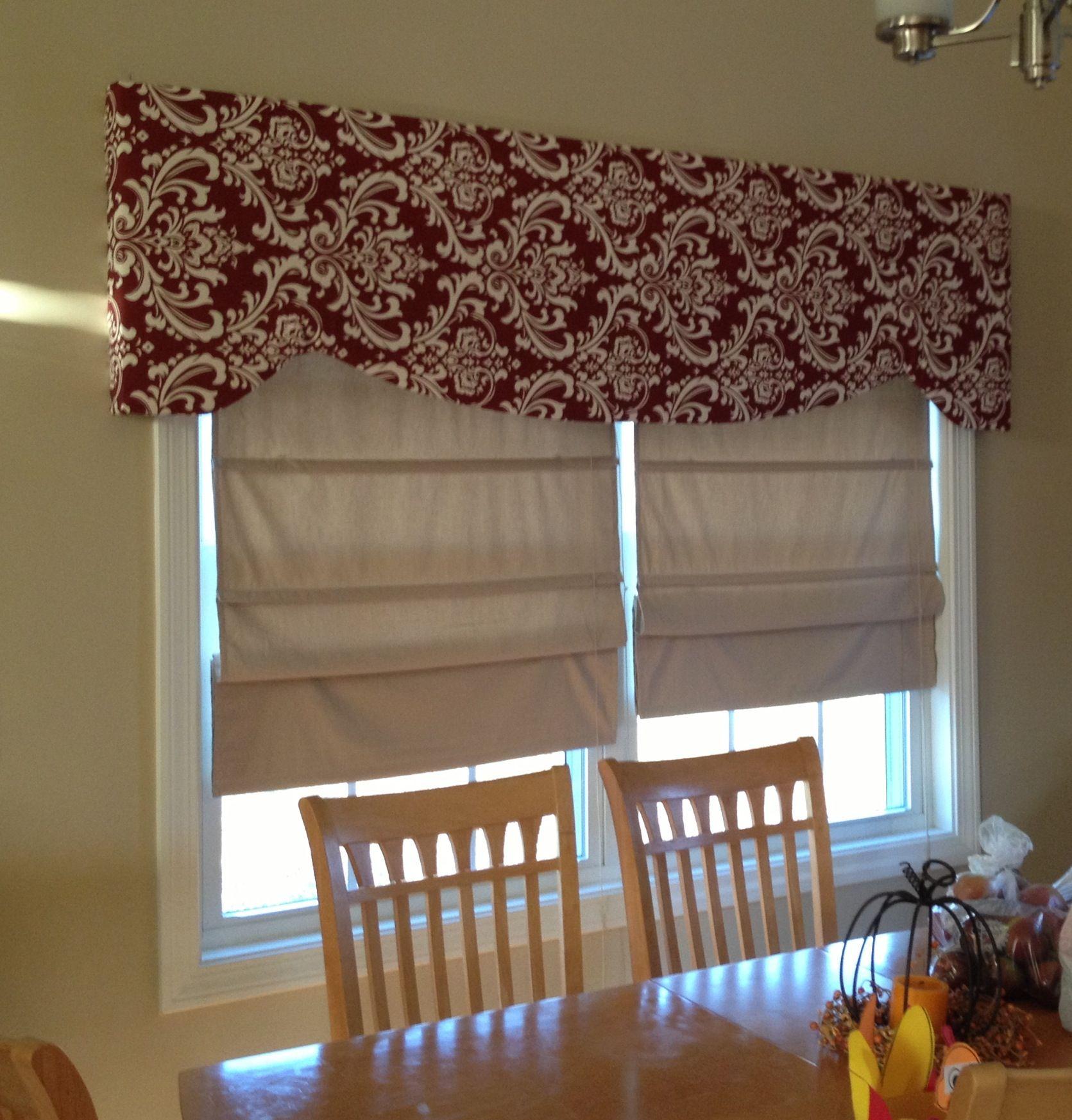 Eyebrow window coverings  upholstered window cornice  for the home  pinterest  window