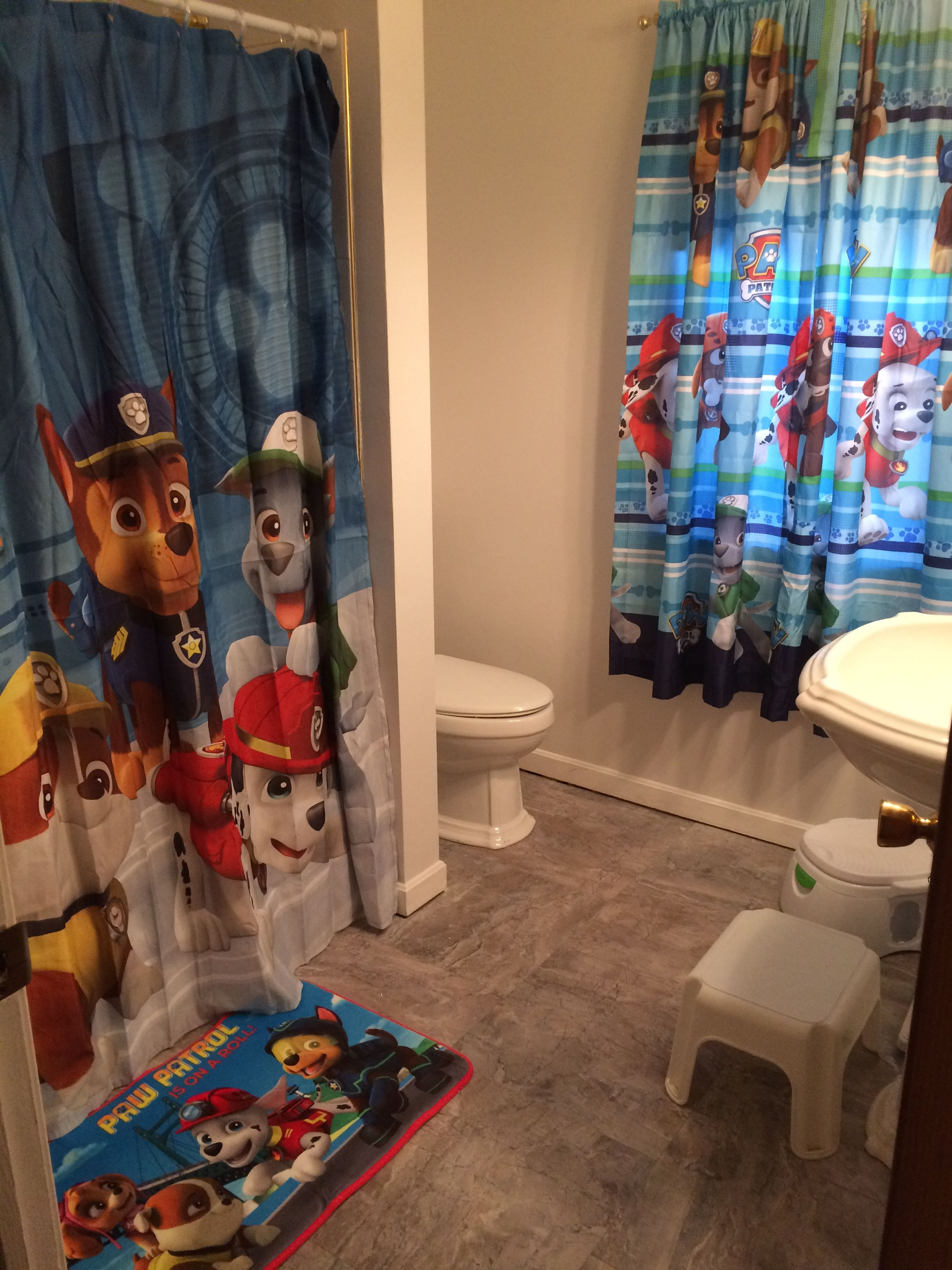 Paw Patrol Bathroom Decor Decor Purchased At Walmart Com Boys Bathroom Decor Kid Bathroom Decor Paw Patrol Bedroom
