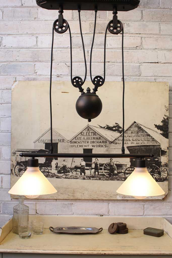 Conical Double Arm Pulley Light Adjustable Pendant Light Adjustable Pendant Light Table
