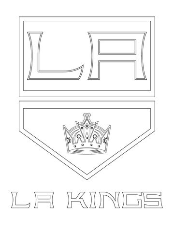 Los Angeles Kings Logo Coloring Page Free Printable Coloring Pages Los Angeles Kings Los Angeles Kings Logo Sports Coloring Pages