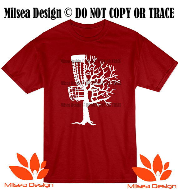 Disc Golf Tree Disc Golf Tee Frisbee Golf T Shirt Adult Funny