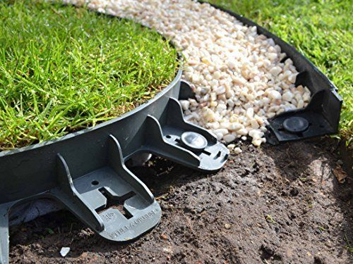 Best4garden No Dig Recycled Lawn Edging Economy Green 60mm Easy Installation With Pegs Supplied Plastic Garden Edging Lawn Edging Garden Edging