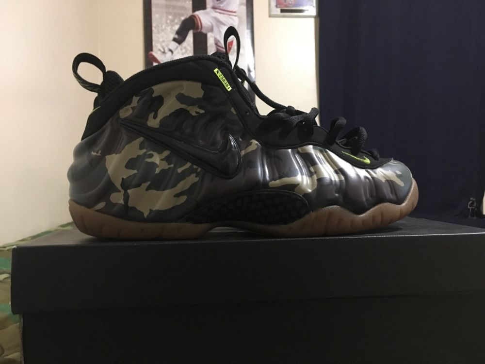 quality design 5e434 e35e9 CLEAN Nike Foamposite Pro Army PRM Camo Woodland Size 11 Bape 587547 300   fashion  clothing  shoes  accessories  mensshoes  athleticshoes (ebay link)