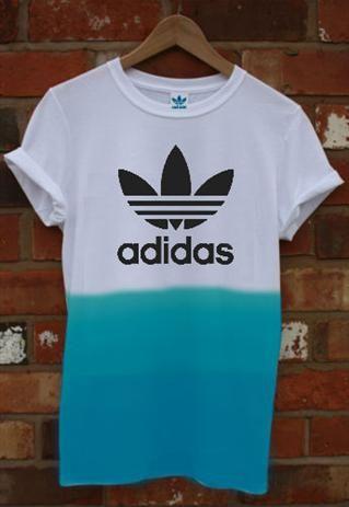 dip dye adidas t shirt