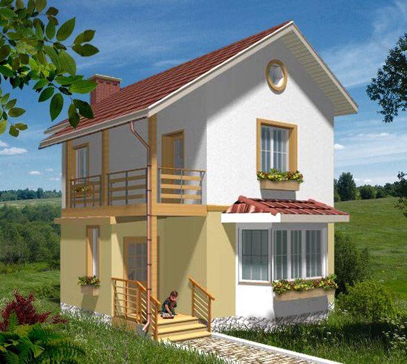 House Plan By Akvilonpro Boris 84 Sq M Two Story