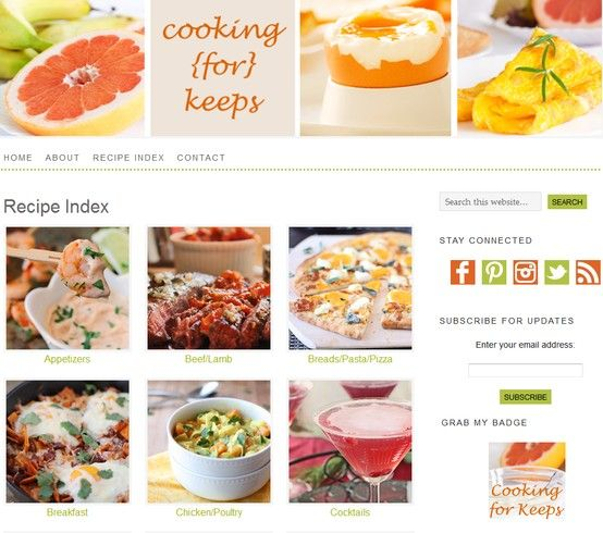 Blog design inspiration food blog recipe index design blog design inspiration food blog recipe index forumfinder Choice Image