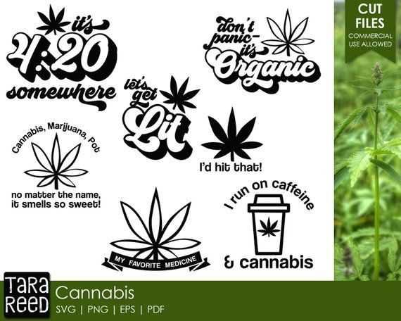 Cannabis Weed Svg Discount File Set With Cut Files Vozeli Com