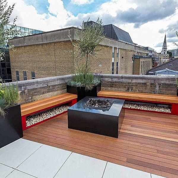 Shoreditch roof terrace design in London