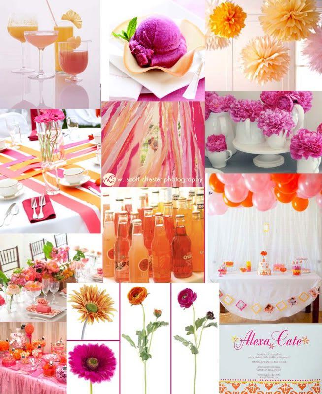 Bridal Shower Color Inspiration Board | Bridal shower ...