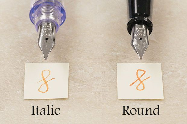 Italic nib vs round nib | Fountain Pens | Fountain pen ink