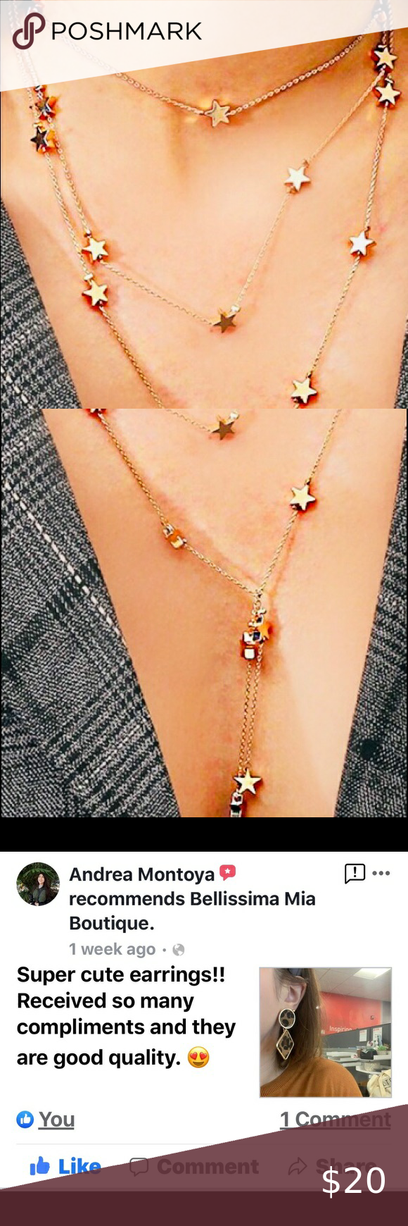 Photo of Layered Star Necklace Layered Star Necklace. Very delicate and classy. High quality …