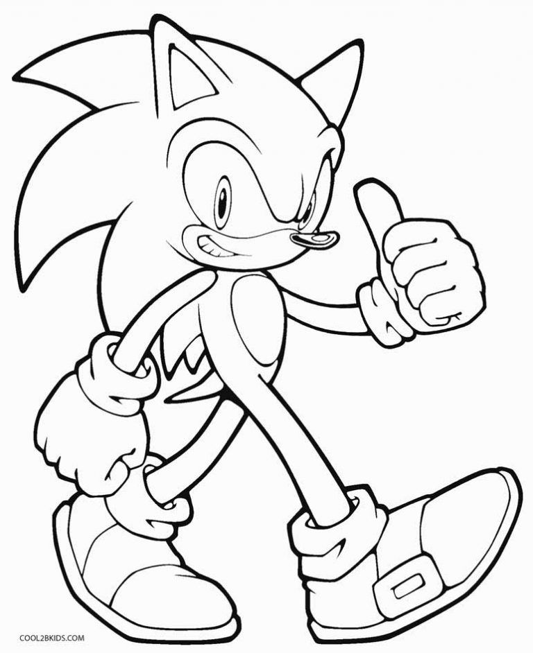Hyper Sonic Coloring Pages