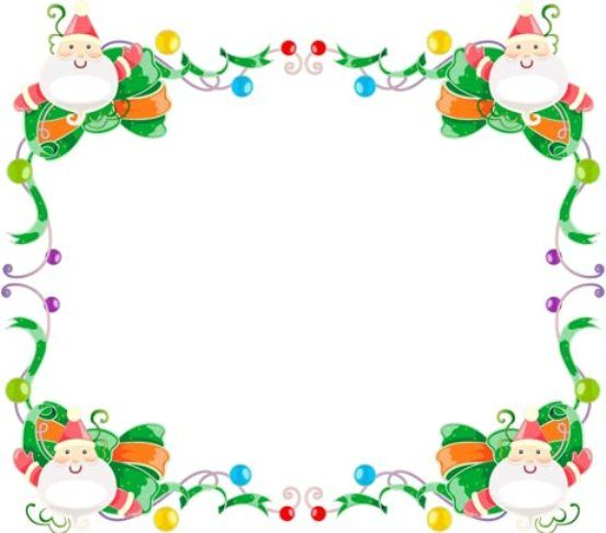 free christmas borders clip art page borders and vector image 10883 rh pinterest com free clipart christmas borders frame Free Christmas Clip Art Line