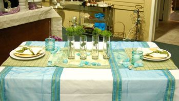 Tropical Picnic Table Setting Outdoor Table Settings Table Settings Table
