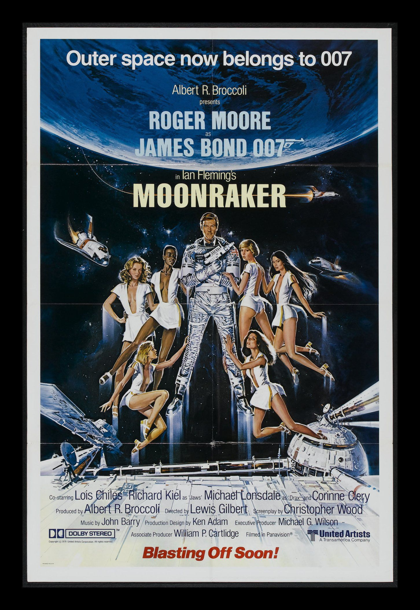 An Alternate Version Of The Us Poster Of Moonraker Shows A More