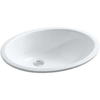 Kohler Caxton 17 Undermount Bathroom Sink White In 2020 Sink