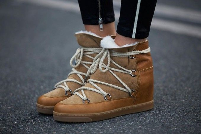 good out x top-rated quality buy real Isabel Marant Nowles Shearling-Lined Snow Boots | Shoes in ...