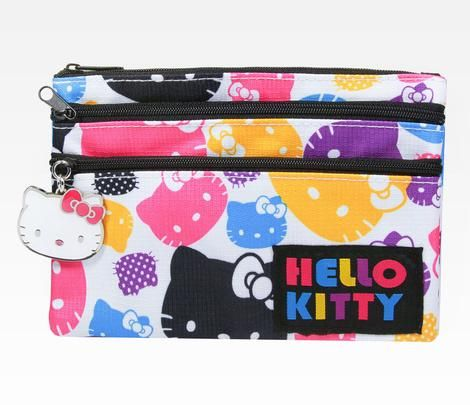 Hello Kitty Flat Cosmetic Pouch: Colors