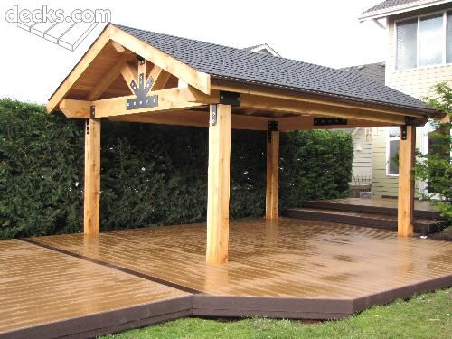 Open porches deck picture gallery outside decorating Gazebo roof pitch