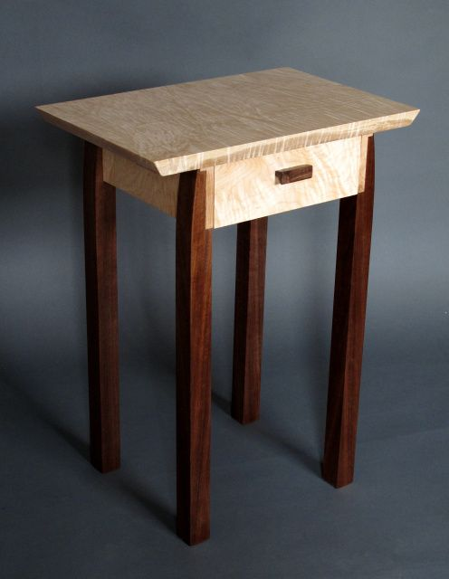 handmade modern wood furniture. Bed Side Table With Drawer, Small Side/ End Tables, Mid Century Modern Furniture- Handmade Custom Wood Furniture F