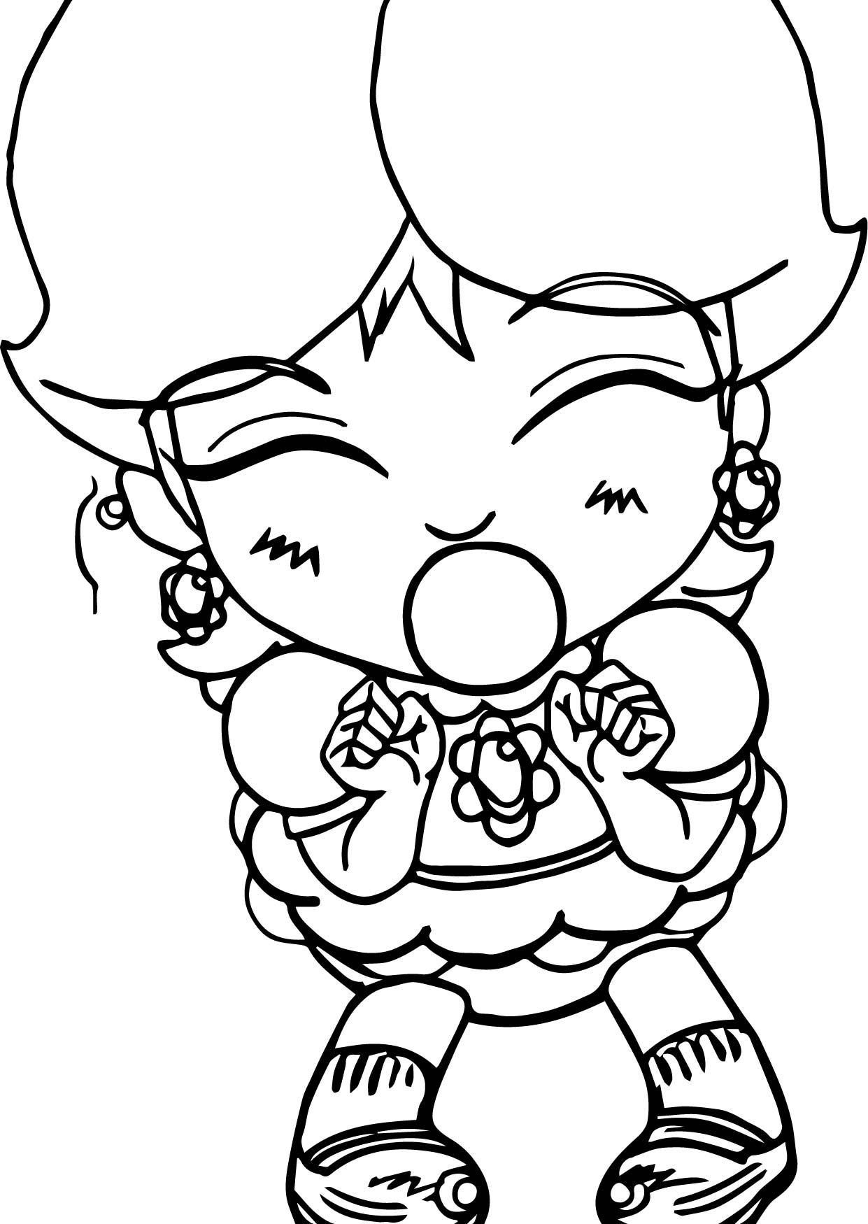 Cool Baby Daisy Bubble Gum Coloring Page Wecoloringpage
