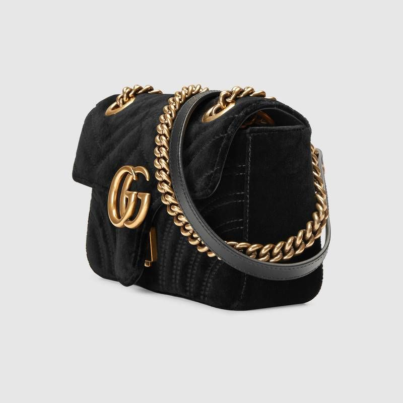 GG Marmont velvet mini bag - Gucci Women s Shoulder Bags 446744K4D2T1000 19ede41da471