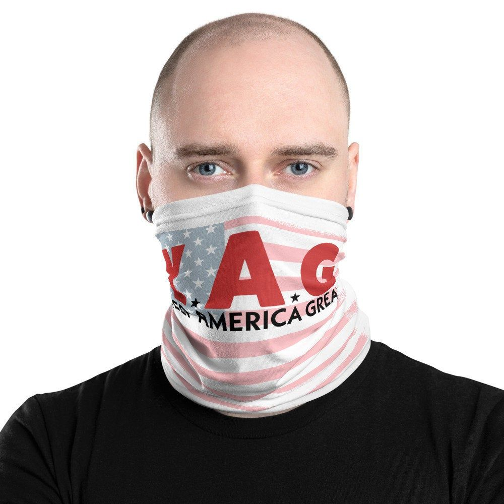 Keep America Great Neck Gaiter Face Mask Kag Trump 2020 Etsy In 2020 Neck Gaiter Funny Mask At Home Face Mask