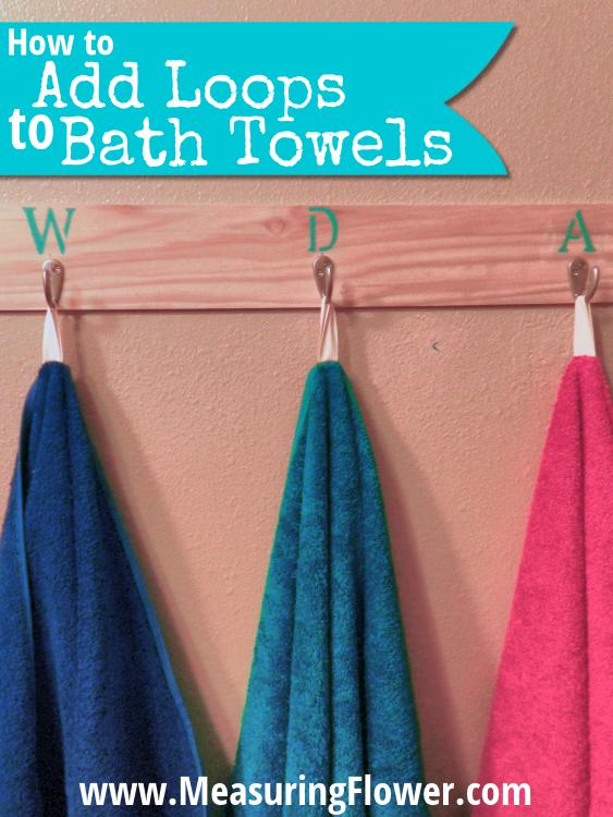 How To Add Loops To Bath Towels Bath Towels Hanging Bath Towels