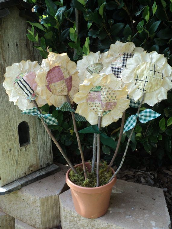 Primitive Flower Stems by IttyBittyCottage on Etsy, $3.50