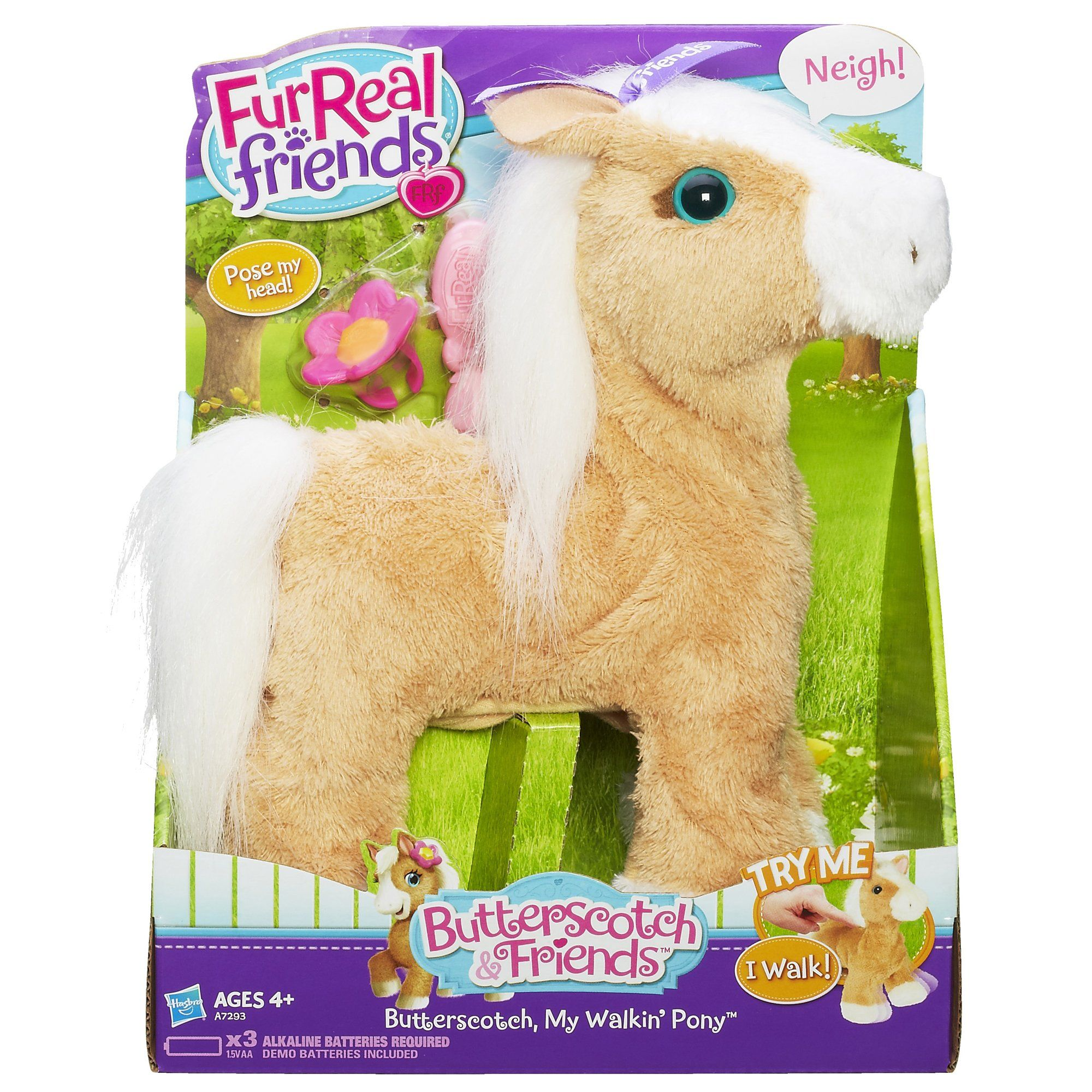 Amazon Com Furreal Friends Butterscotch My Walkin Pony Pet Toys Games Fur Real Friends Baby Girl Toys Hugs And Cuddles