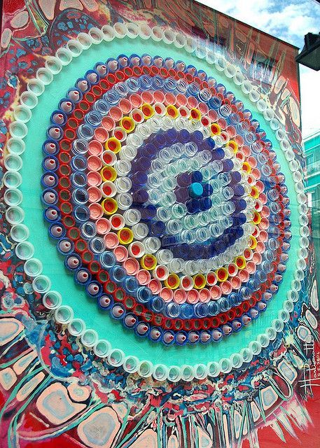 Populaire Fresques murales avec des bouchons en plastique | divers  TQ59
