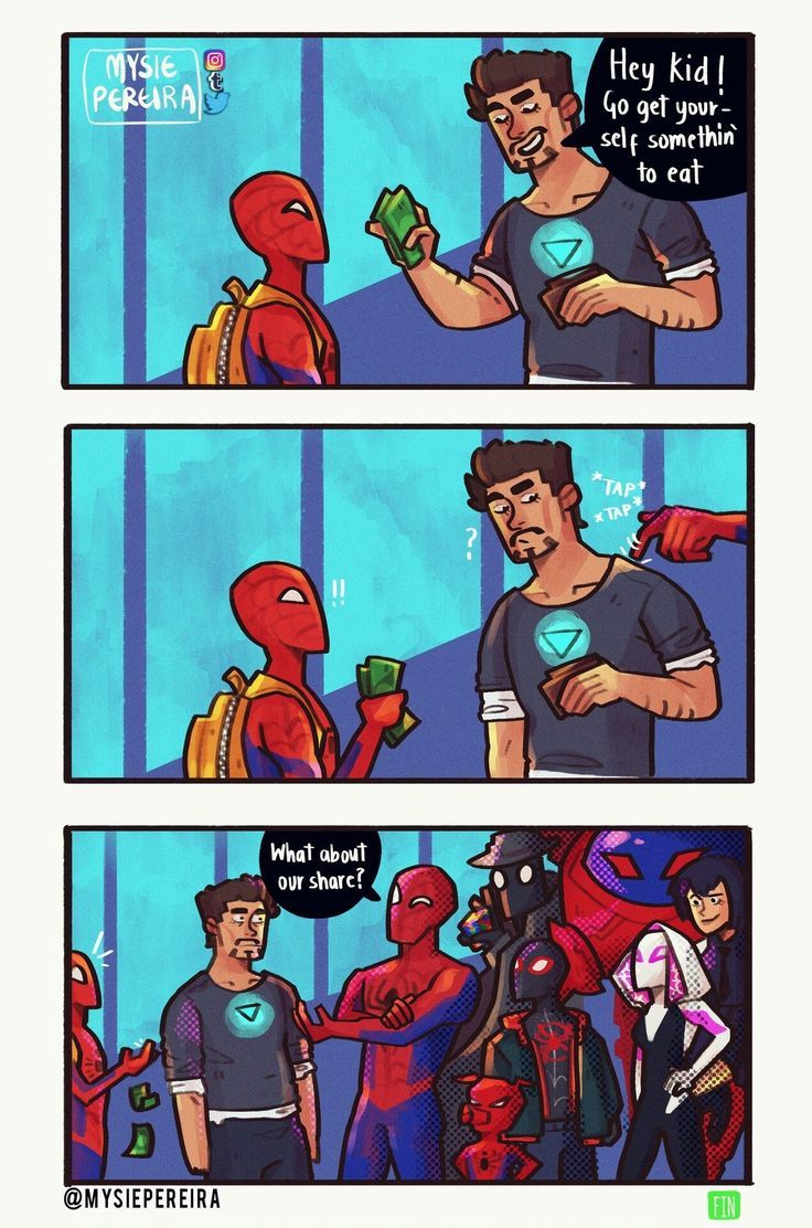 AU where Tony Stark adopts all Spiders. #peterparker